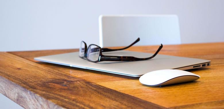 business writing laptop